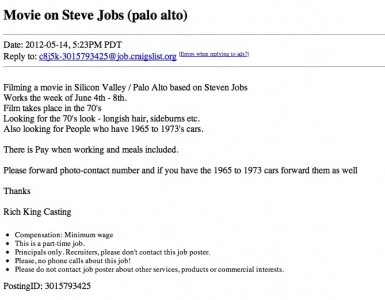 Casting Call For 'jOBS: Get Inspired' Seeks People Stuck In The '70s