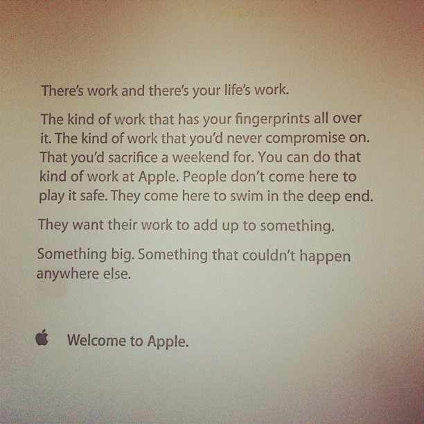 New Hires Get Inspirational Note On Their First Day At Apple