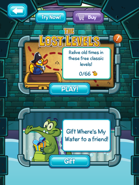 Where's My Water? Finds Forgotten Treasure In The Lost Levels; Free Version Gets Some Summer Lovin'
