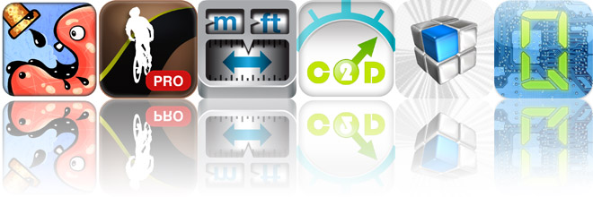 Today's Apps Gone Free: Feed Me Oil, Mountain Bike Pro Cycling Computer, Converter, and More