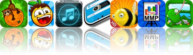 Today's Apps Gone Free: Fruit Tumble, Bouncy Seed, Ringtone Maker Plus Silent Sound, And More