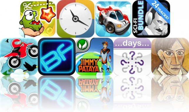 Today's Apps Gone Free: Cut The Rope: Experiments, Timegg, Mini Motor Racing, And More