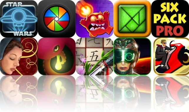 Today's Apps Gone Free: Star Wars Pit Droids, SplashCam, Monster Burner, And More