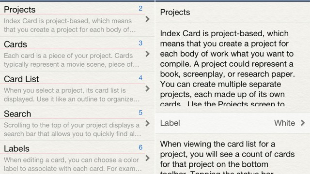 DenVog's Index Card App Is Now Available For iPhone And iPod Touch