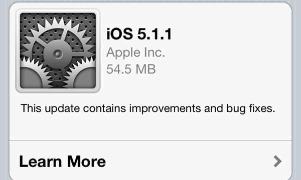 Apple Releases iOS Version 5.1.1