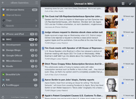 Mr. Reader Update Highlighted By Support For Multiple Google Reader Accounts