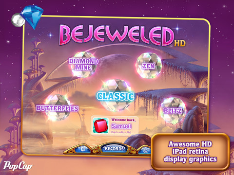 Bejeweled HD Arrives For iPad