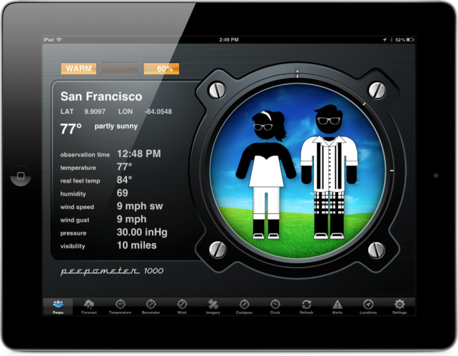 Peepometer For iPad Offers Unique Way To See Weather
