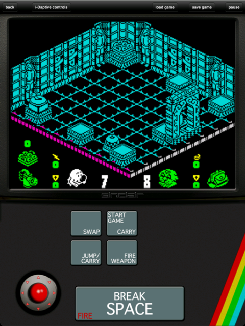 head over heels zx spectrum hd drops through floor and lands in the app store. Black Bedroom Furniture Sets. Home Design Ideas