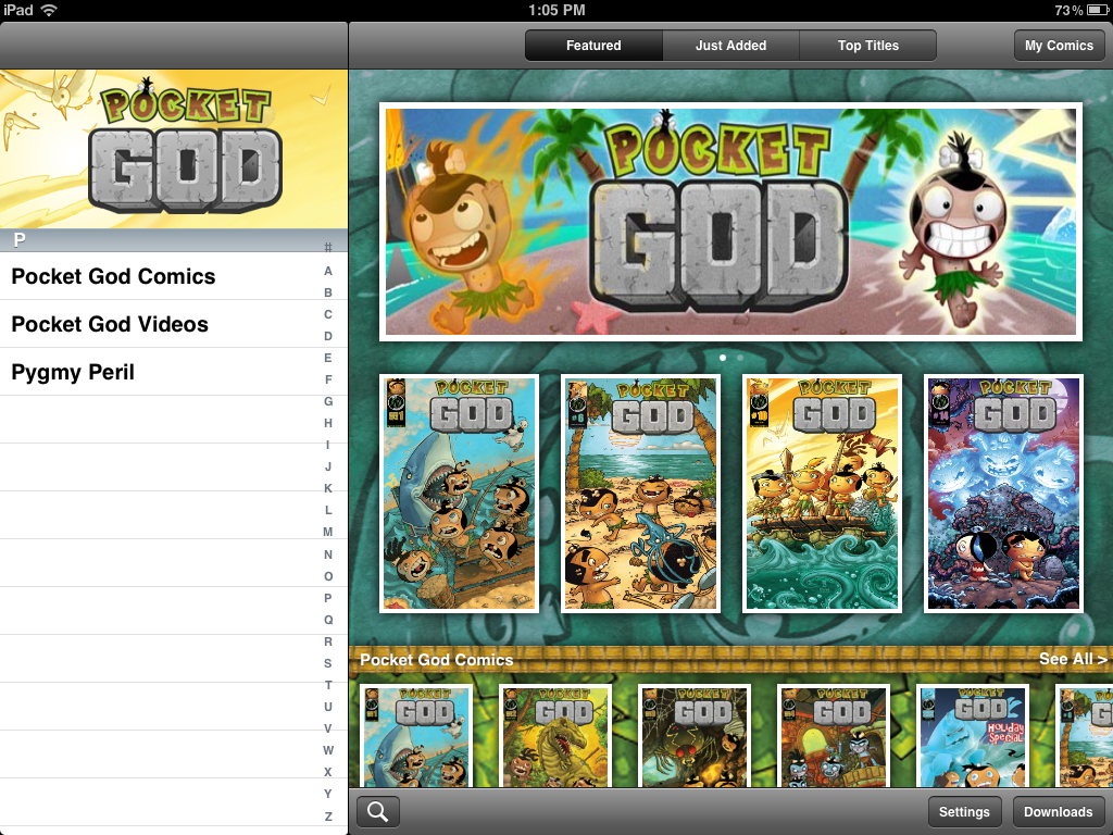 The Next Issue Of The Pocket God Comics Has Arrived, Plus An App Interface Revision