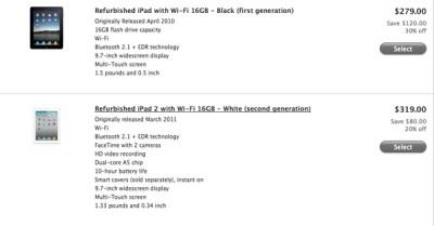 Apple Cuts Prices On Refurbished iPad 2, Original iPad
