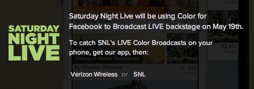 SNL and Color for Facebook