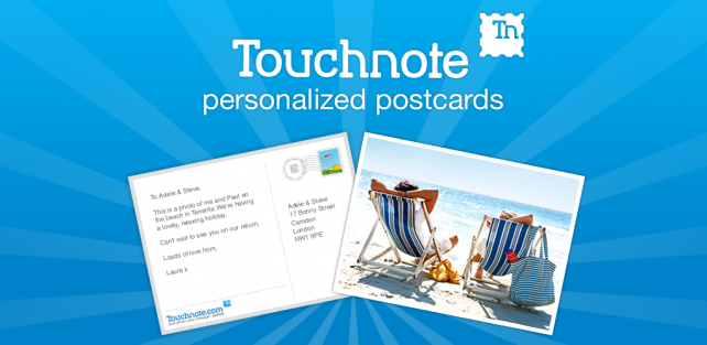 Touchnote Postcards Promo: Send Free Photo Cards Using Your iDevice