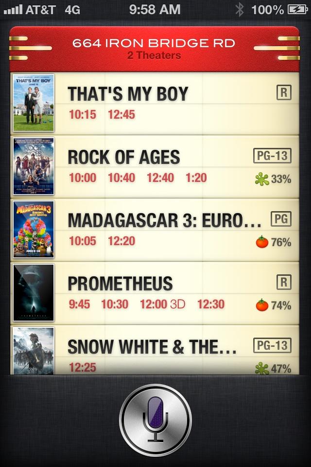 Siri in iOS 6: I'll bring the popcorn!