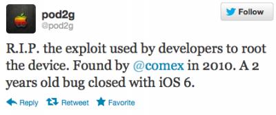 Apple Closes 2-Year-Old Jailbreak Exploit With iOS 6