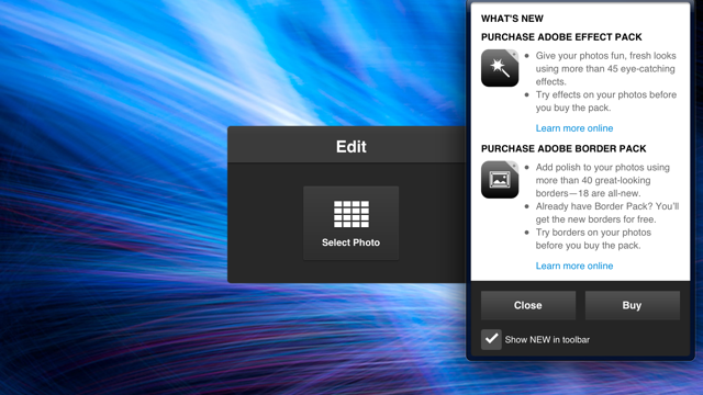 Adobe Photoshop Express Now Enhanced With Retina iPad Support And More Expansion Packs