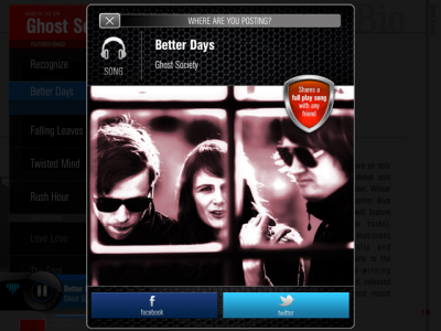 Band Of The Day Update Enables Sharing Of Full-Play Songs