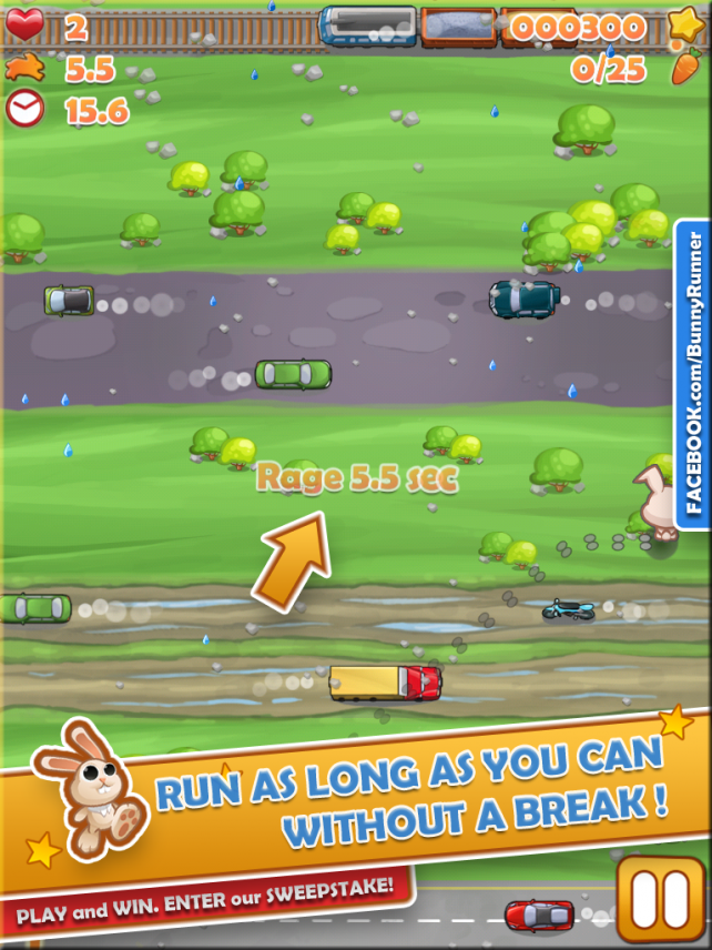 Guide A Carrot-Loving Pedestrian To Safety In Bunny Run