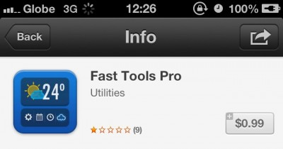 New Fake App Fast Tools Pro Claims To Widgetize Your iDevice's Home Screen