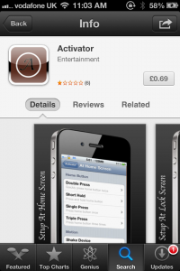 Activator - Another App Store Scam Appears In The iPhone App Store