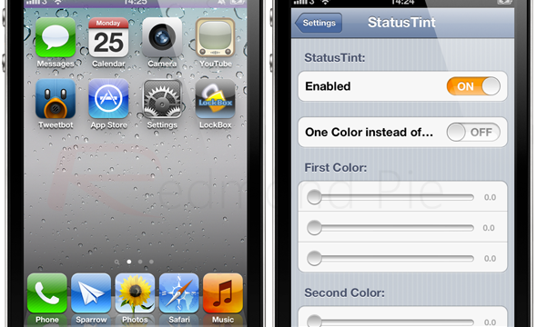 Change The Color Of Your Status Bar With This Fabulous New Jailbreak Tweak