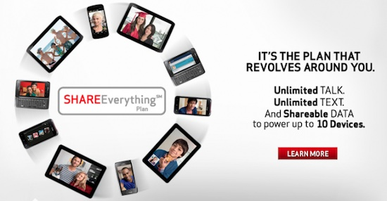 As Expected, Verizon's 'Share Everything' Data Plans Launch