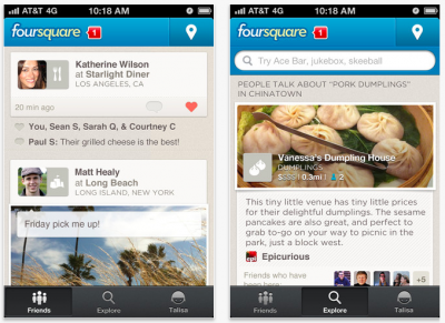Foursquare 5.0 Puts A Premium On Exploration Rather Than Checking In