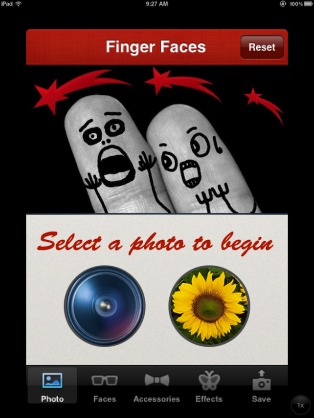 Quirky App Of The Day: Cool Finger Faces