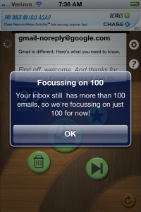EmptyInbox for GMail by John Goering screenshot