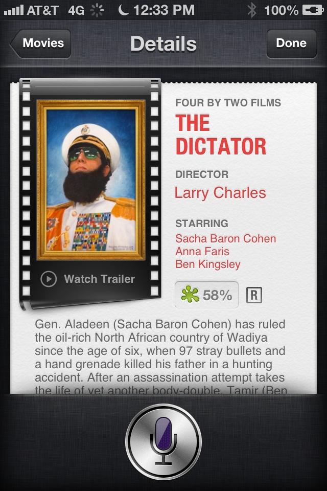 Siri - Movie Listings