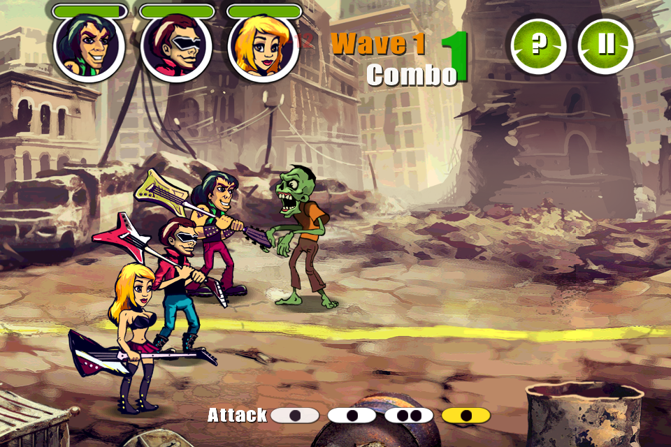 Tap To Execute Actions, Zombies In Rock All Zombies