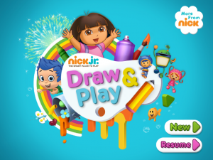 Nick Jr Draw & Play HD by MTV Networks screenshot