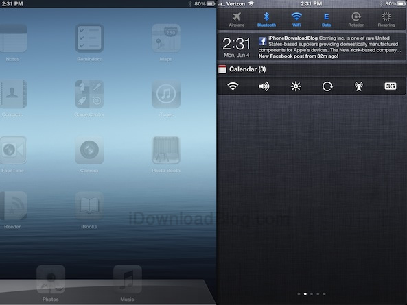 Jailbreak Only: MountainLionCenter Brings OS X Inspired Notification Center To iPad