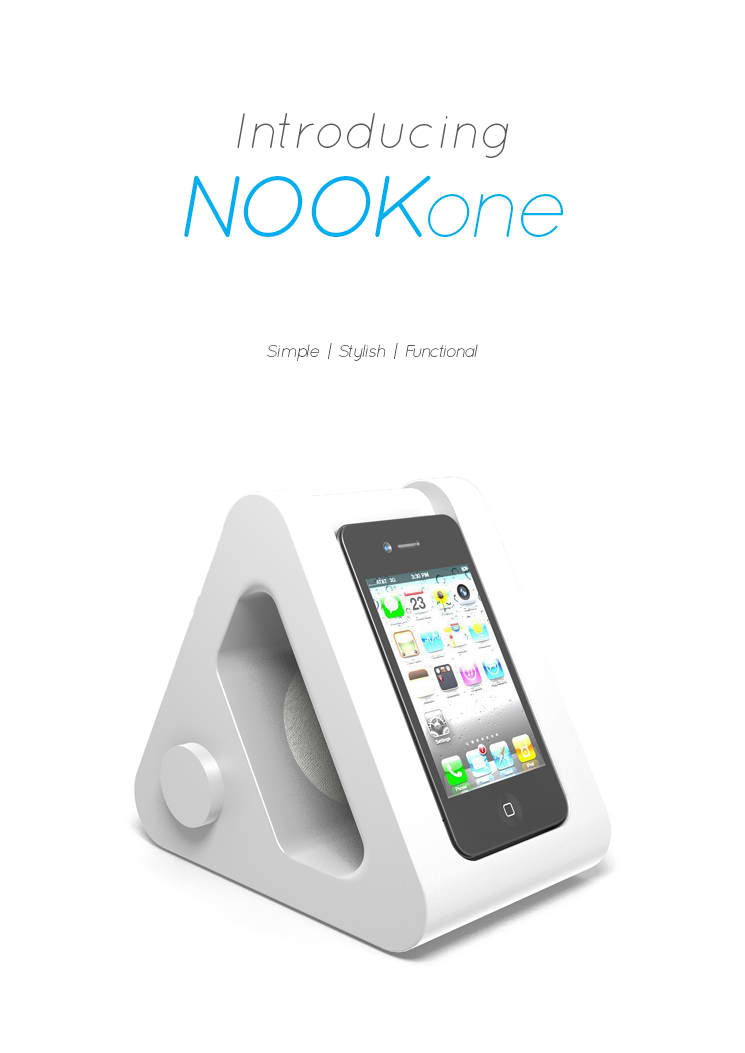 NOOKone Conceptually Gives Your iPhone A Comfortable Bedside Nook