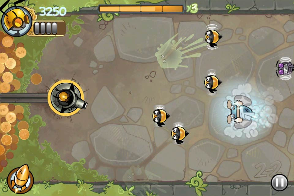 Defend The Ant Colony From The Evil Bees In Splat Attack