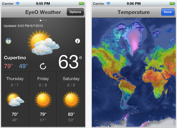 EyeO Weather Available Now: A Great Universal Weather App