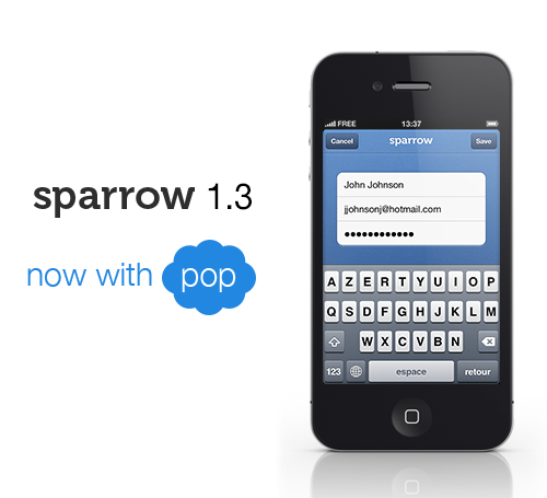 Sparrow For iPhone Gains POP Support, But Still No Sign Of Push