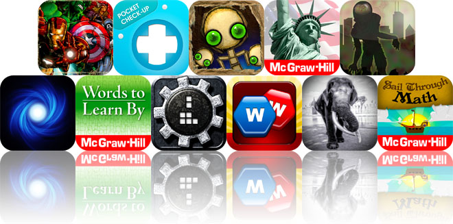 Today's Apps Gone Free: Marvel KAPOW!, Pocket Check-Up, Band Together And More