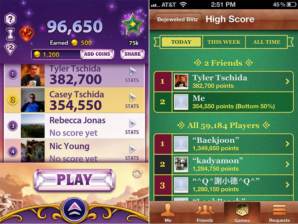 PopCap Finally Adds Game Center Integration To Bejeweled Blitz