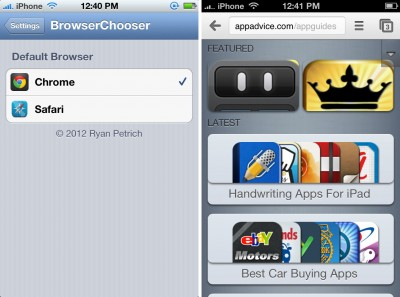 Jailbreak Only: Change Your Default Browser With BrowserChooser