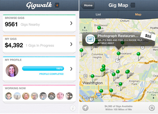 Gigwalk Allows Businesses And Users To Easily Connect For Local Contract Work