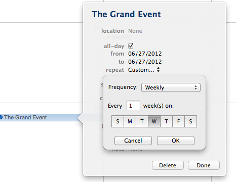 iCal - Not iOS feature