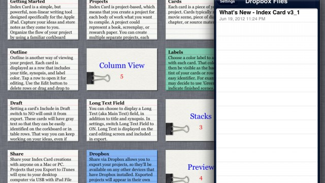 Index Card v3.1 For iPad Includes Several User Interface Improvements And More