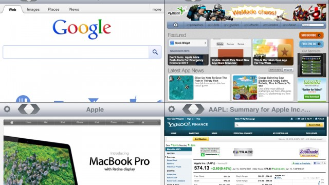 MultiWeb 1.0 Is The Latest Entry Of Simultaneous Multiple Page Web Browsers For iPad