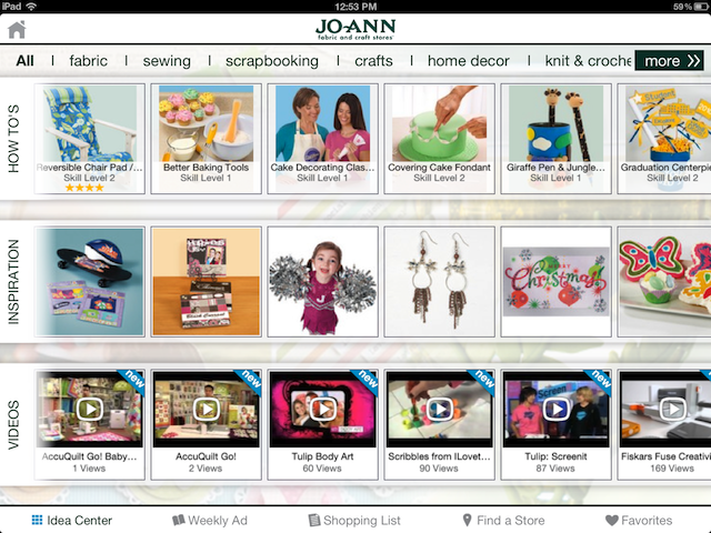 Looking For Something To Do With Your Hands? Check Out Jo-Ann For iPad For Ideas