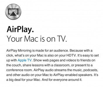 AirPlay Mirroring Comes To Mountain Lion