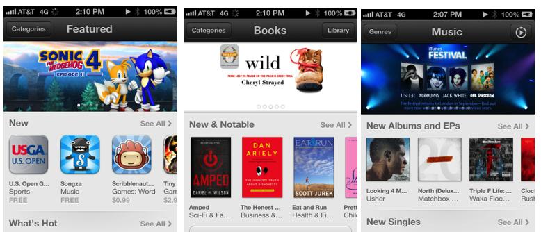 iOS 6.0 - New Stores