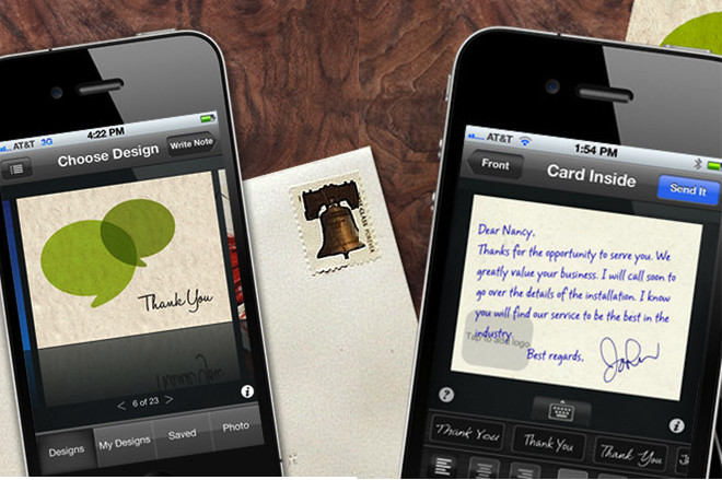 ThankYouPro Lets You Send Professional Notes Via Your iPhone