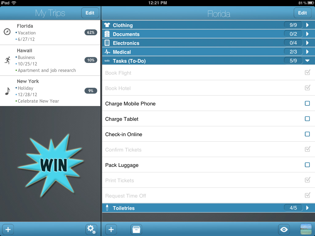 A Chance To Win A TripList Promo Code For iPad With A Retweet Or Comment
