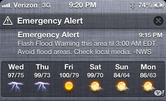 Emergency Alert in iOS 6